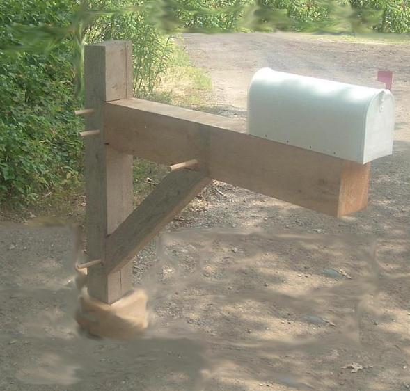 Mailbox Post Plans A mailbox post,